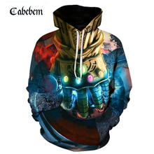New fall avengers movie 3D annihilation steel one-handed printed hoodie 3d-printed pullover harajuku high quality sportswear annihilation