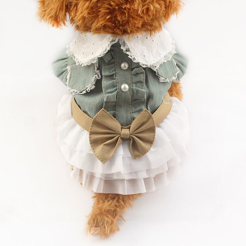 e04f0e4f3f2 Armi tienda tela de vaquero perro vestido Perros princesa 6071040 PET Puppy  falda ropa suministros