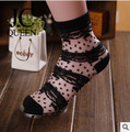 J.C Queen-2014 Japanese style women Socks Lolita girl Summer Crystal Cool hot sell
