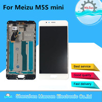 Original M&Sen For 5.2 Meizu M5S Meilan 5S M612H M612M LCD screen display+ Touch Digitizer with frame white/BlackFree shipping