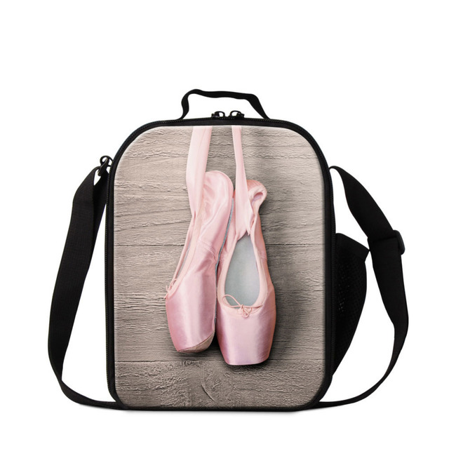 Dispalang Ballet Shoe Print Lunch Bag For S Kids Thermal Cooler Personalized Insulated