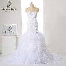 PoemsSongs style Luxury custom mermaid wedding dress