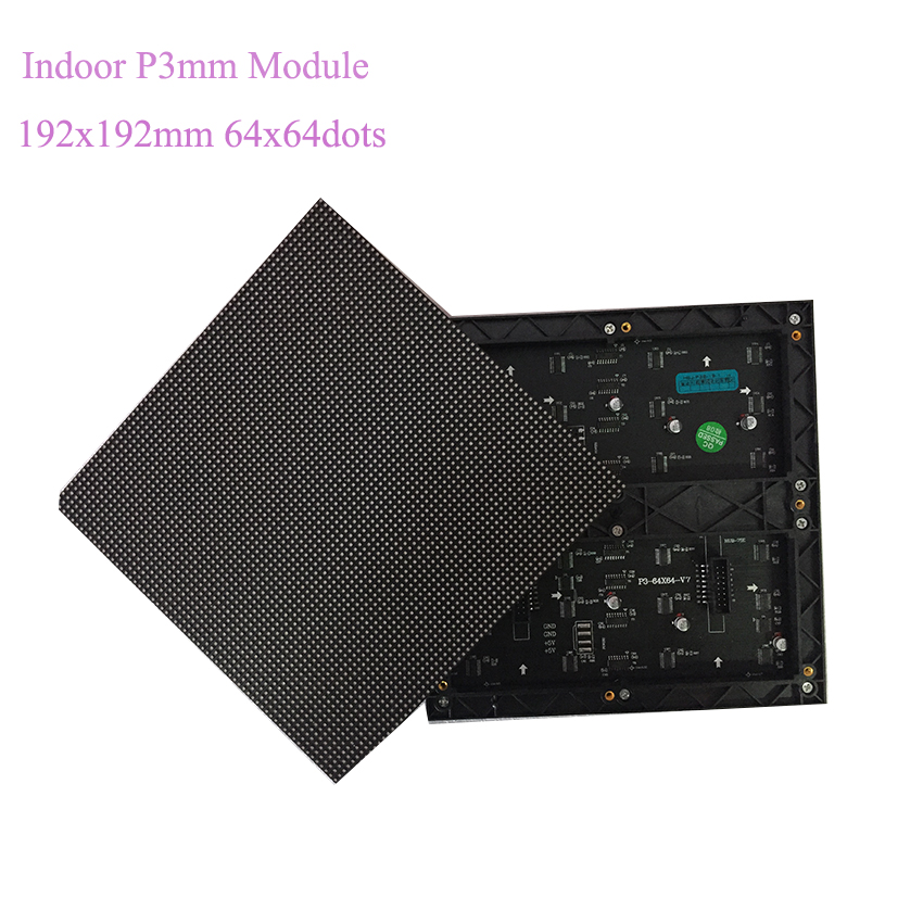 Indoor P3mm SMD2121 192x192mm LED Module Screen/3mm Small Indoor Led Display Screen Module 64*64 Pixel Panel Video Wall