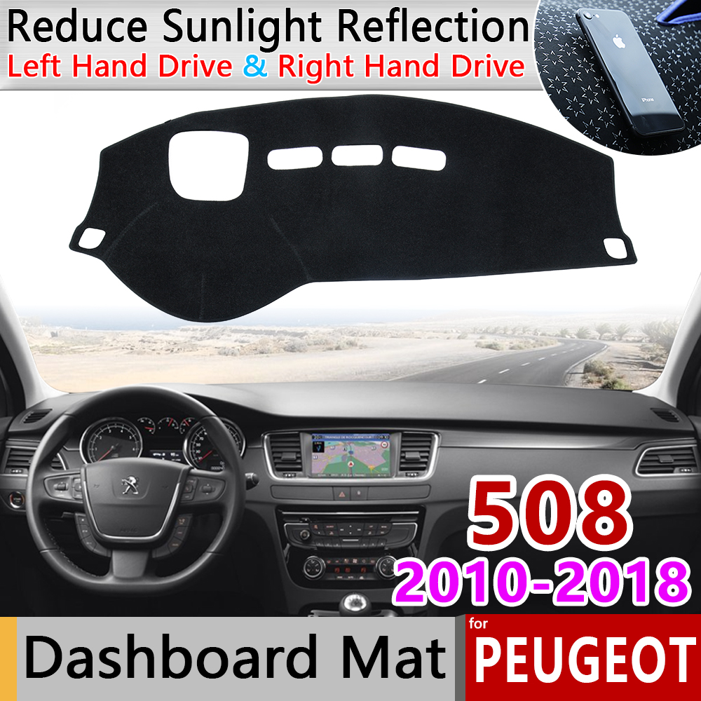 for Peugeot 508 508sw 508GT RXH 2010 2018 Anti-Slip Mat Dashboard Cover Pad Sunshade Dashmat Car Accessories 2012 2015 2016 2017