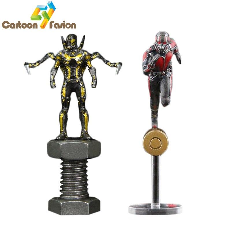 C&F King Arts Marvel Movie Superhero Iron Man 3 Ant-Man Yellow Jacket Mini Action Figure Toys FFS004 With Retail Box For Display