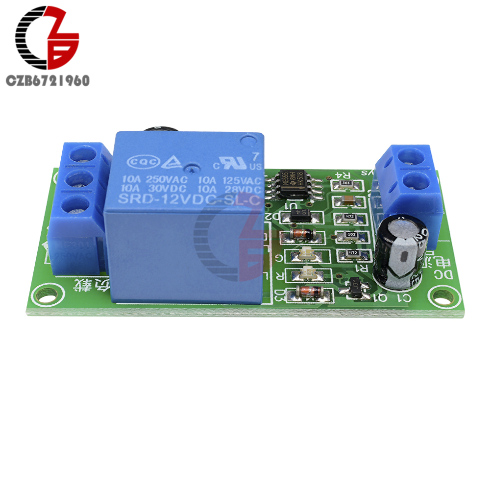 Buy Ne555 Time Delay Relay Dc 12v Conduction Pulse Circuit Trigger Timing Timer Switch Generation Adjustable Module From Reliable