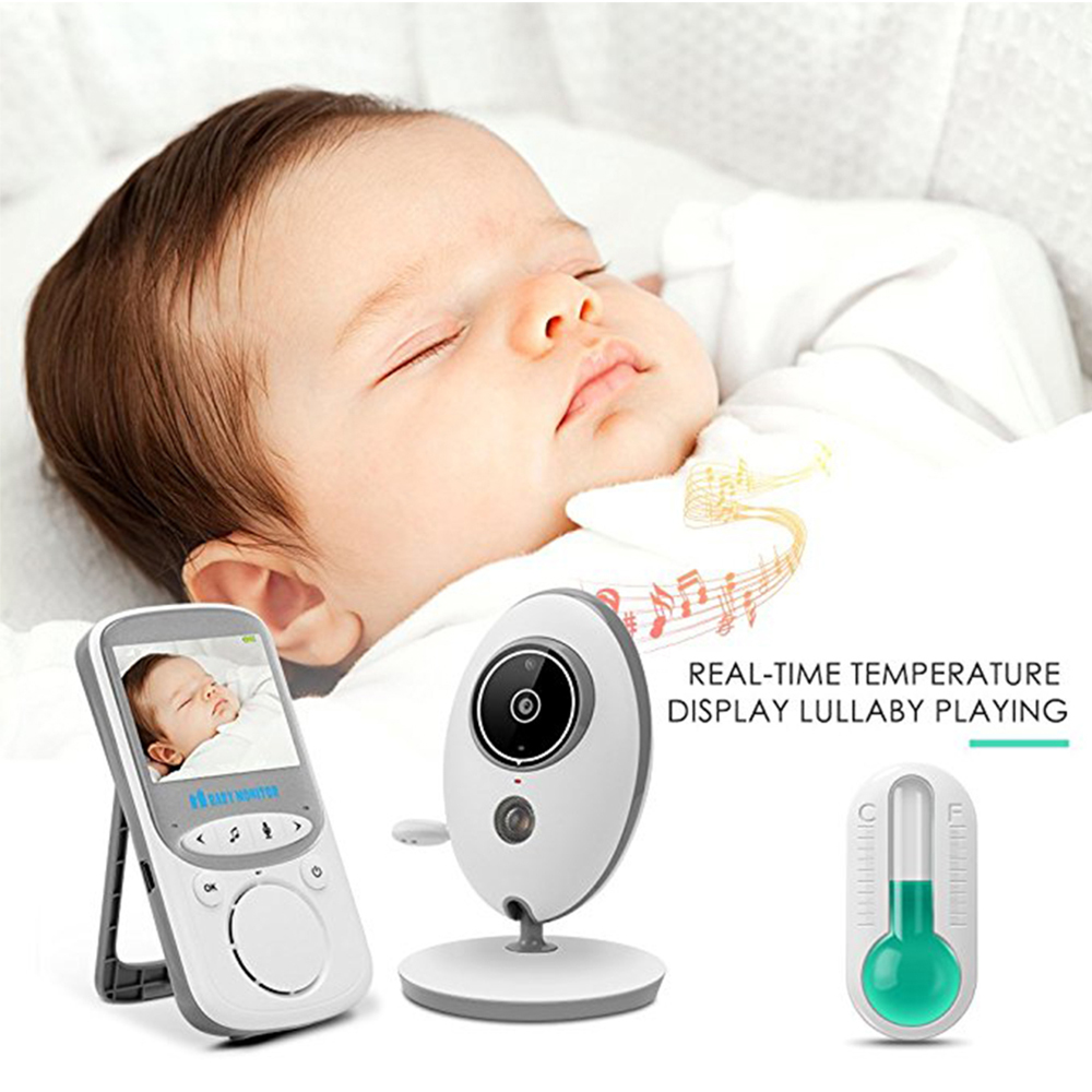 Wireless Baby Sleeping Monitor Temperature Display Video Baby Monitor with Camera Monitoring Night Vision Nanny 2 Way Audio Talk wireless lcd audio video baby monitor security camera baby monitor with camera 2 way talk night vision ir temperature monitoring