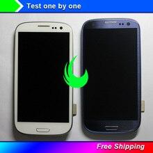 I9300i Amoled המקורי עבור i9305 i9300 Samsung Galaxy S3/i9308i T999/i747 מגע LCD תצוגת Digitizer מסך עם מסגרת לוח