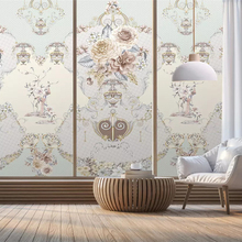 Papel de pared beibehang estilo europeo HD pintado a mano vintage jarrón con adorno floral borde mosaico papel tapiz papel pintado