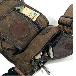 Image 4 - Mens Canvas Retro Drop Leg Bag Waist Fanny Pack Thigh Hip Bum Belt Military Hiking Motorcycle Cross Body Messenger Shoulder Bag