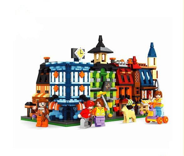 Фотография Ausini building block set compatible with lego new city series 083 3D Construction Brick Educational Hobbies Toys for Kids