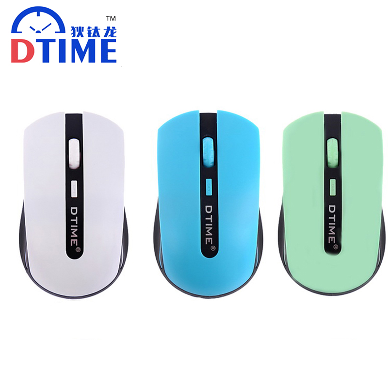 DTIME 2.4G Cordless Wireless Mouse Mute Noiseless Silent 4button Game Gamer Optical Gami ...