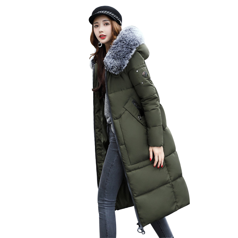 Winter Thicker Large Fur Collar Hooded Cotton Jacket Women Warmer Padded Parka High Quality Wadded Ukraine Coat Chaqueta Mujer winter jacket women large fur collar wadded padded coats jacket female hooded down cotton coat plus size 5xl parka mujer c2623