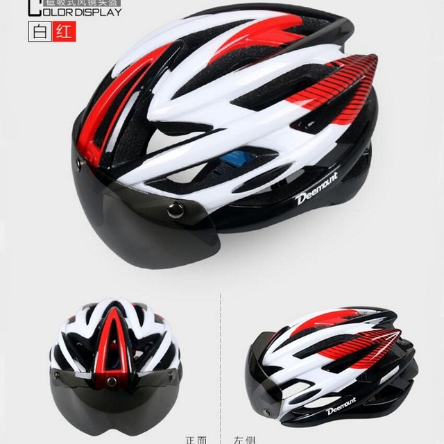 Ultralight Bicycle Helmet Light 2017 Goggles Cycling Helmet With