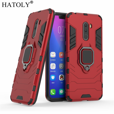 For Xiaomi Pocophone F1 Case Cover Magnetic Suction Ring Bracket Cases Silicone Hard Armor Cover Xiaomi Pocophone F1 Little F1 Karachi