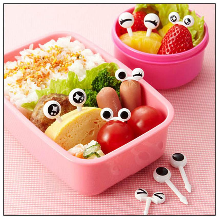 Lovely Eye Easy to Sign Mini Fruit Vegetable Salad Fork Cartoon Children Happy Gifts High Quality Plastic image