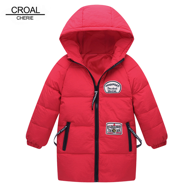 e680a0017a2a CROAL CHERIE 100 150cm Fashion Letter Label Children s Winter Coat ...