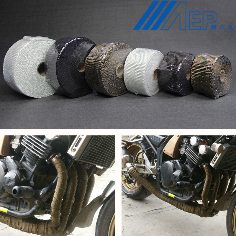 FREE SHIPPING Motorcycle Muffler Thermal Exhaust Tape Header Heat Wrap Resistant Downpipe For Motorcycle Car Accessories(China)