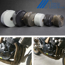 FREE SHIPPING Motorcycle Muffler Thermal Exhaust font b Tape b font Header Heat Wrap Resistant Downpipe