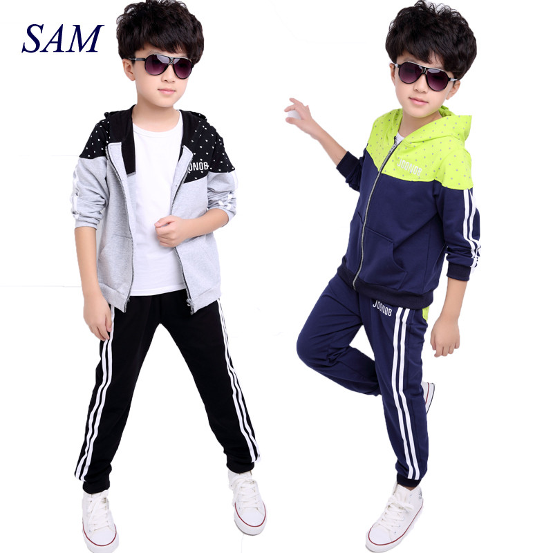 New spring autumn kids clothes sets children casual 2 pcs suit jackets hoodies+pants baby set boys sport suit outwear 5-11 years kids boys autumn clothing set new children spring and autumn leisure sport long sleeved two piece 5 8 10 12 age kids coat pants