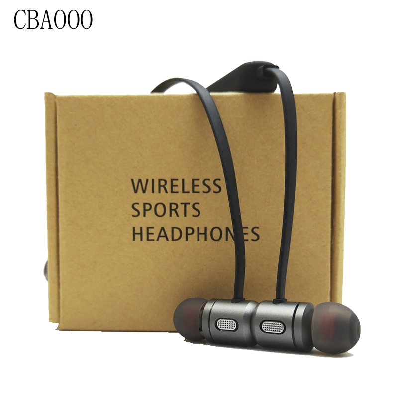 цена на 5pcs/Lot C10 Wireless Headphones Bluetooth Earphone with Mic Fone de ouvido Magnetic Headset Earbuds For Phone Auriculares