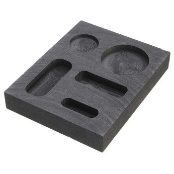 Dumadf bloque de grafito de alta pureza 99,9/% electrodo rect/ángulo placa herramienta de fundici/ón de 50 x 50 x 10 mm 4 piezas