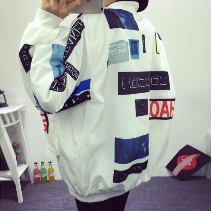 kpop BIGBANG South Korea ulzzang Quan Zhilong with the head wind BF Harajuku graffiti letters baseball coat and lovers k pop GD in Hoodies amp Sweatshirts from Women 39 s Clothing