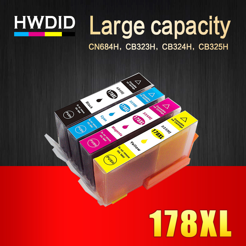 HWDID 178xl Compatible Ink Cartridge Replacement for HP 178 XL for HP Photosmart 7515 5515 B109a B010b B209 B210 3070A 3520 7510 4pcs for hp 364xl ink cartridge compatible for photosmart deskjet 3070a 3520 photosmart 5510 5520 6510 6520 7510 7520 printer