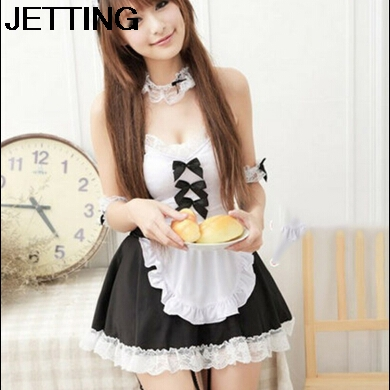 2014 New Sexy Maid Lolita Women Costume/Brand Bowknot Lace Dress Cosplay Costume Women/Fashion Women Clothing