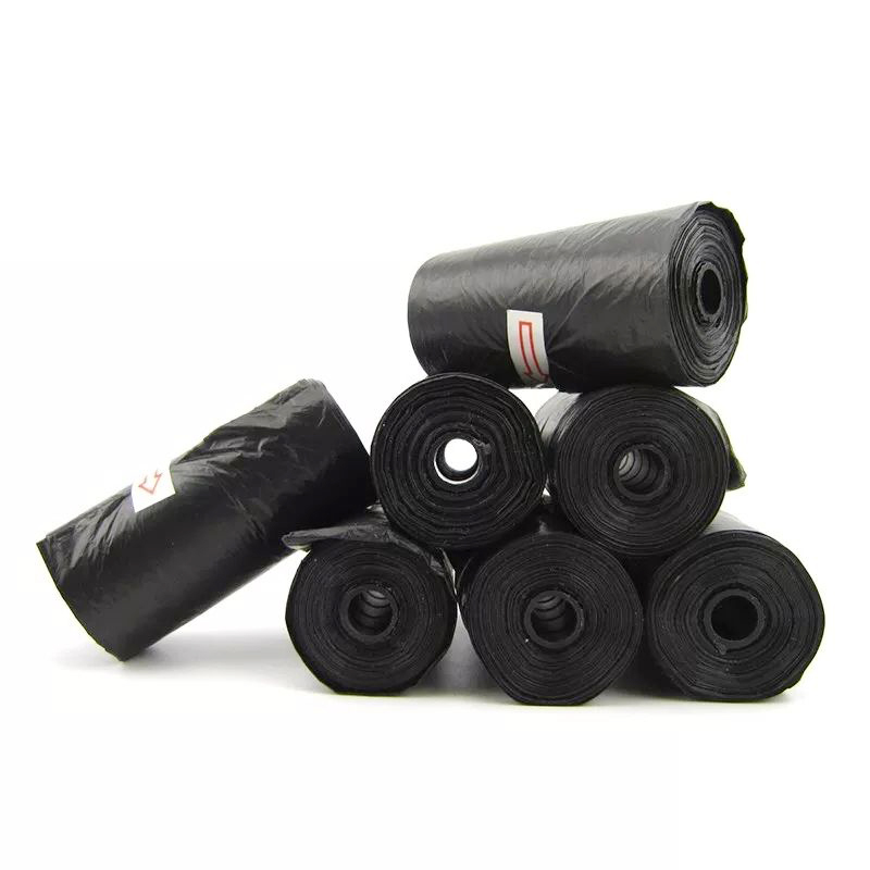 3 Rolls 45 Pcs Pet Supplies Garbage Pooper Bags Black Dog Cats Pets Pick Up Cleaning Up Garbage Bag Degradable With Garbage Bags