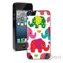 Elephant Hearts Protector back skins mobile cellphone cases for iphone 4 4s 5 5s 5c SE