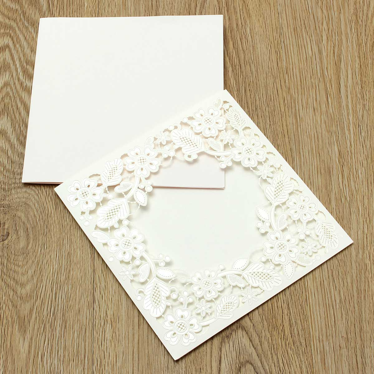 <font><b>Marvelous</b></font> <font><b>Church</b></font> Personalized Customized Printing Laser Cut Wedding Party Invitations Card Embossed Flowers with Envelope
