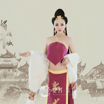 Mei Qing Cheng Chinese Bra DuDou  Sexy Costume Performance Hanfu Tang Dynasty Stage Performance Hanfu Photography Costume new arrival film performance wear blue embroidered dragon brocade the qing dynasty prince clothes chinese ancient costume male