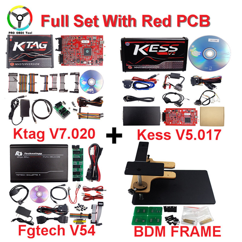 2018 Kess ktag Online Kess V2 V5.017 Red EU Kess V2.47 ECU Chip Tuning Tool No Token K-TAG 7.020 Master V2.23 ECU Progrmammer цена 2017