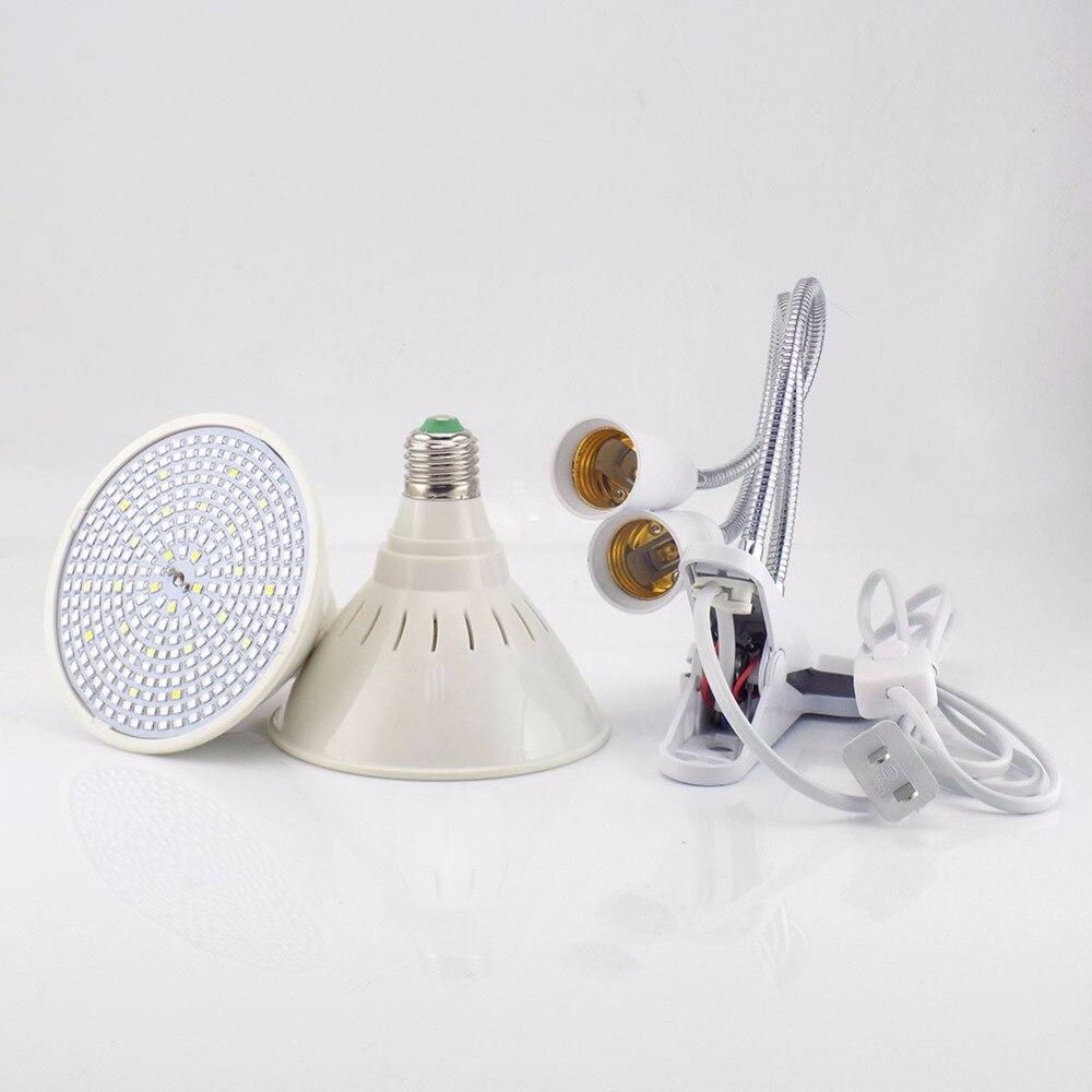 Full spectrum 290 Led Plant Flower Grow Light Bulb E27 Dual Lamp Lighting Set Desk Clip Holder Vegs Seeds for Indoor Hydroponic in LED Grow Lights from Lights Lighting
