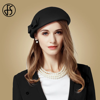 FS Winter British Fascinators Black Orange Wool Bow Derby Pillbox Hat For Women Ladies Wedding Dresses Church Felt Fedoras Hats