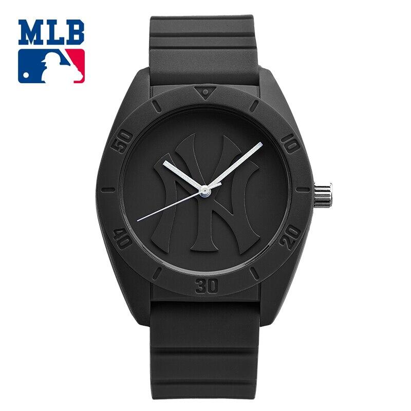 MLB NY Fashion Simple Cool Watches Rubber Waterproof  Lover Watches  Men Women Quartz  Sport Student Wrist Watch Clock D5002 цена и фото