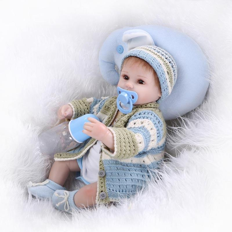 Simulation 55cm Reborn Doll Soft Silicone Girl Pretend Play Doll Princess Toddler Babies Bathe Play House Toy Baby Girls Gifts