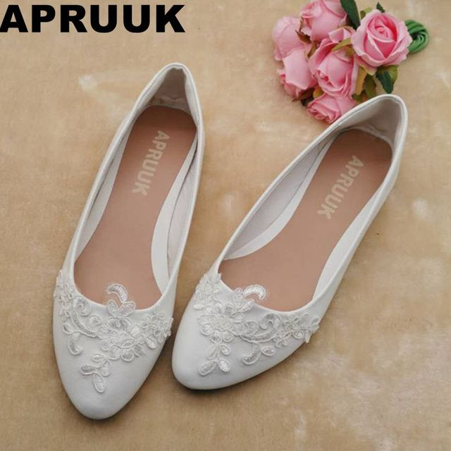 Sales promotion flats wedding shoes women white lace plus sizes flats wedding shoes women white lace plus sizes sweet lace flower girl shoes junglespirit Image collections