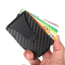 купить Men Women Credit Card Holder Anti Protect Blocking Rfid Wallet Portable ID Cardholder Clip Porte Carte Travel Metal Case дешево