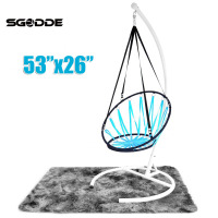Nordic Style Handmade Knitted Round Hammock Kids Single Chair Hammock Outdoor Indoor Dormitory Bedroom Children Swing