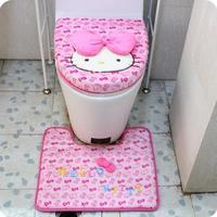 KAWAII Hello Kitty Pink Bathroom Sanitary Sitting Toilet Seat Cushion Mat Floor Mat PAD Closestool Cotton