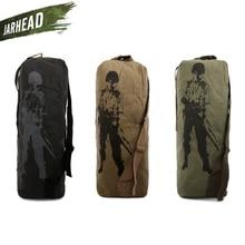 Outdoor Sport Canvas Large Shoulder Bag Military Tactical Backpack Army Soldier Rucksack Men Climbing Camping Shoulder Bag