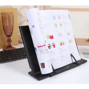 Image 3 - Przenośny notatnik stojak do czytania uchwyt biurkowy z 7 regulowanymi rowkami, czarny