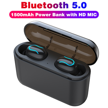 Bluetooth 5.0 Earphone Headphones Q32 Sports Earbuds Mini Wireless Earphones With 1500mAh Charging Box Loud Stereo Sound HD MIC