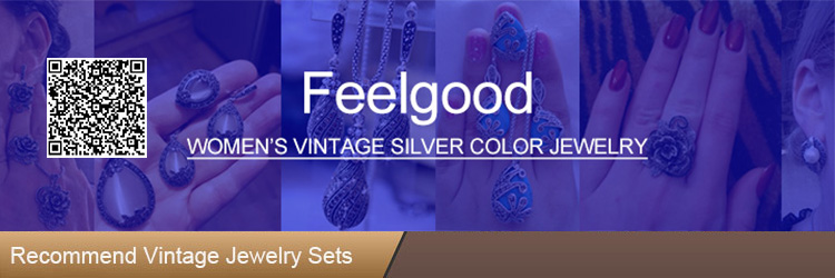 Feelgood Silver Color Vintage Jewellery Set White And Black Crystal Jewelry Sets With Necklace Stud Earrings Ring For Women Gift 1