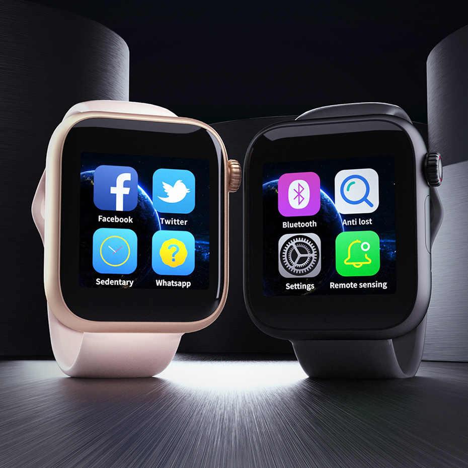 Z6 фитнес Bluetooth Смарт наручные часы 1,54 дюймов сенсорный экран модные часы браслет с sim-картой карты памяти для Android IOS