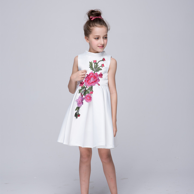 White formal dress girls