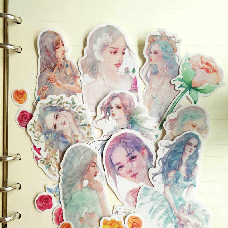 Girls Sticker Pack Anime Stickers Flower Animal Lot Book Album Diary Scrapbooking Children Kids Stickers Classic Toys