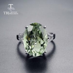 Image 2 - Grote Groene Amethist Ring Natuurlijke Edelsteen Ring 925 Sterling Zilveren Fijne Sieraden Voor Meisjes Mooie Zwarte Vrijdag & Kerstcadeau